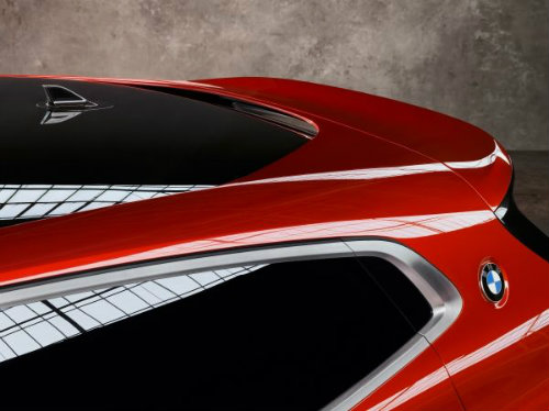rear and spoiler of the BMW Concept X2