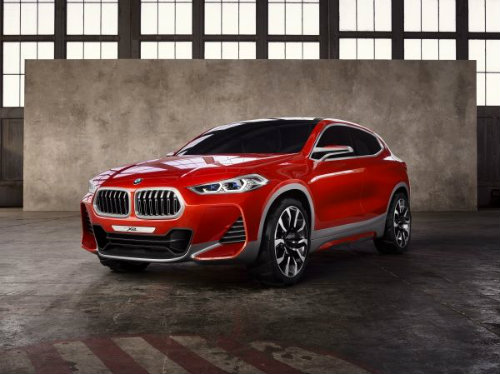front and side view of the BMW Concept X2
