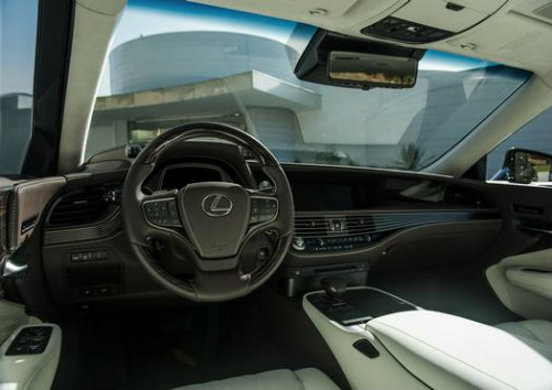 luxuriously appointed interior of the new 2018 Lexus LS