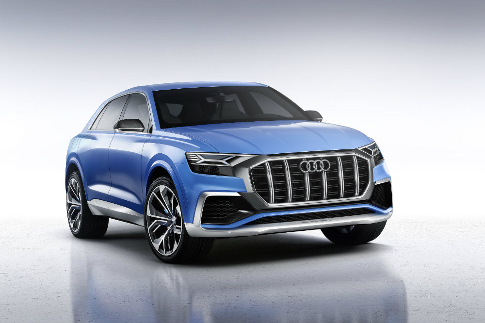 front and grille view of the Audi Q8 Concept