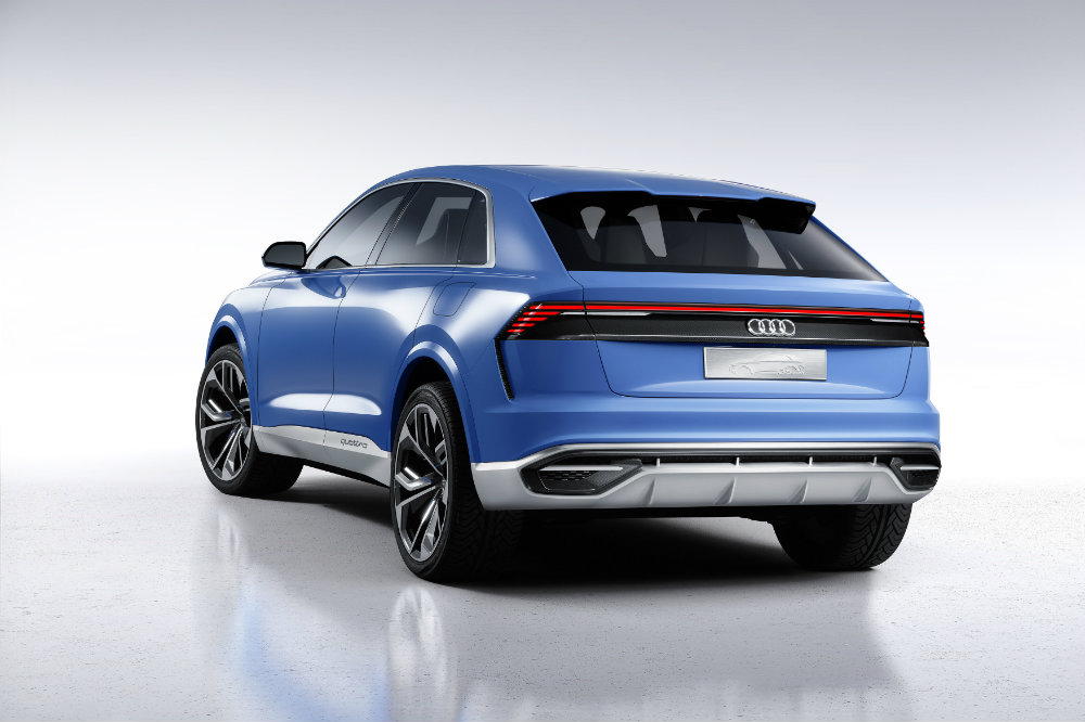 tailgate and side view of the Audi Q8 Concept