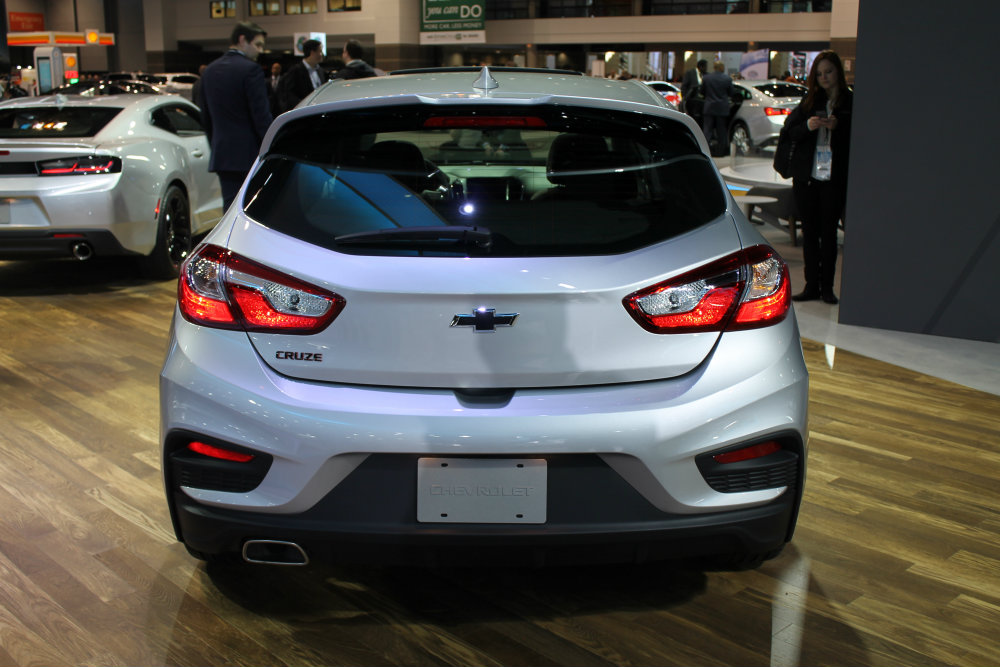 rear view of the 2017 Chevy Cruze Redline at the 2017 Chicago Auto Show