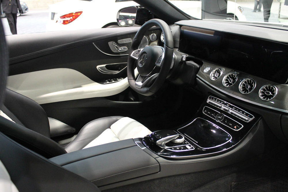 driver seat and dashboard of the 2017 Mercedes-Benz E-Class Coupe at the Chicago Auto Show 2017