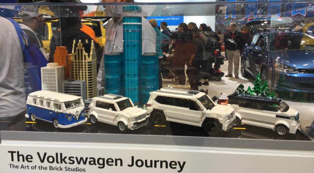 Volkswagen LEGO display at the 2017 Chicago Auto Show