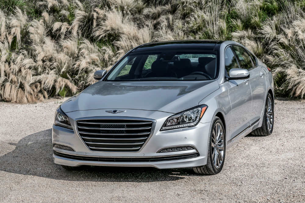 front view silver 2017 Genesis G80