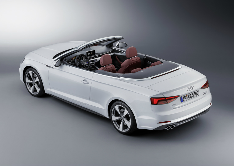 overhead view of the 2018 Audi A5 Cabriolet