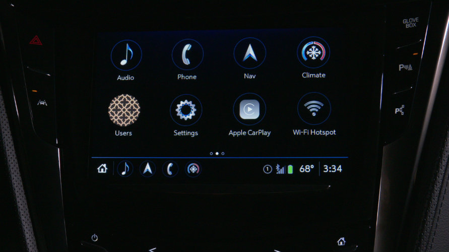 Home screen on the new Cadillac User Experience
