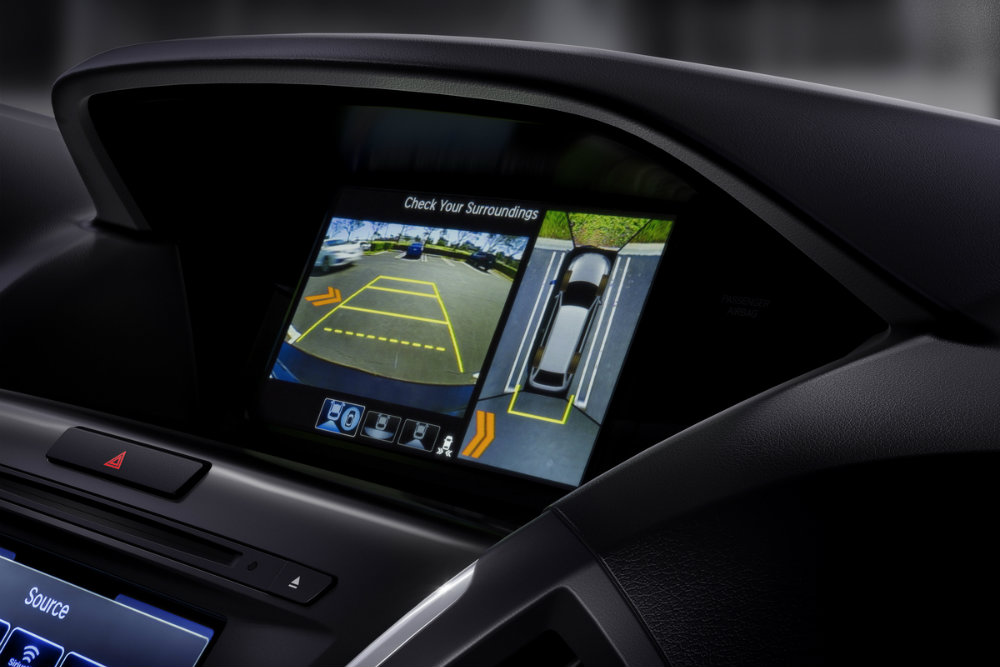 2017 Acura MDX Sport Hybrid infotainment and rearview camera view