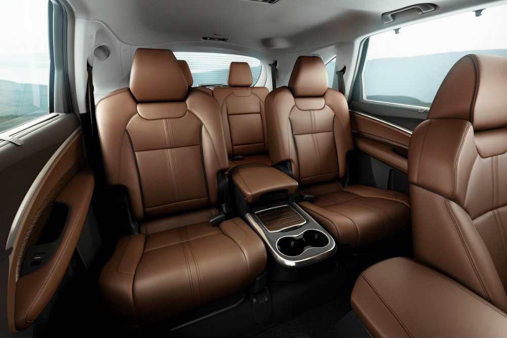 luxurious rear seats of the 2017 Acura MDX Sport Hybrid