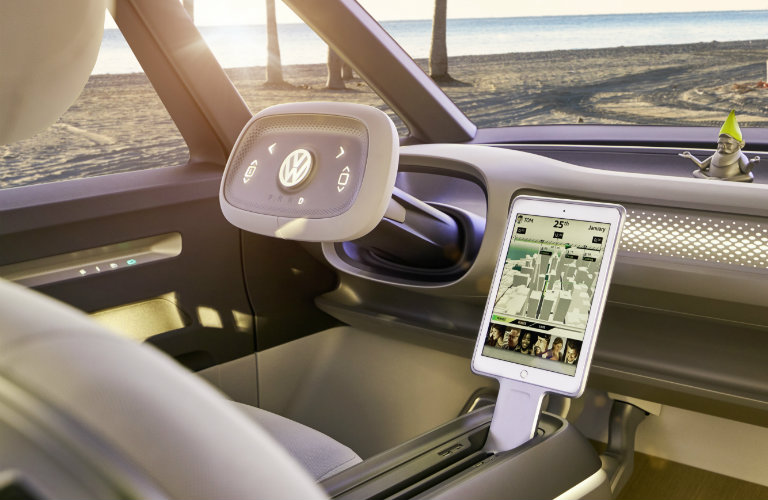 front dashboard of the Volkswagen I.D. Buzz Concept