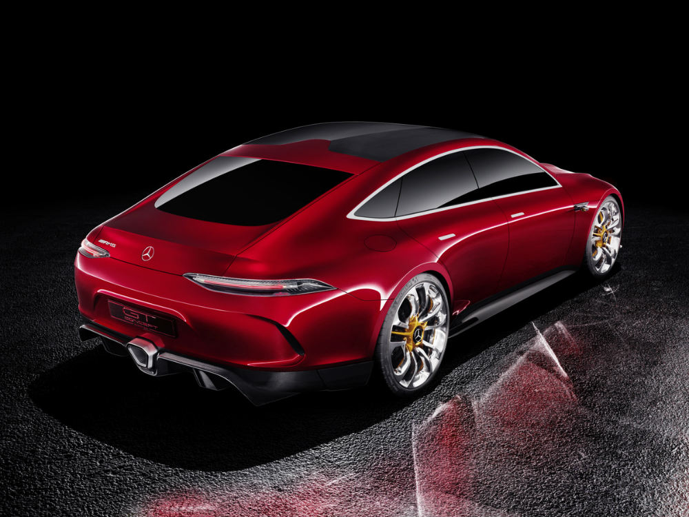 rear view of the Mercedes-AMG GT Concept