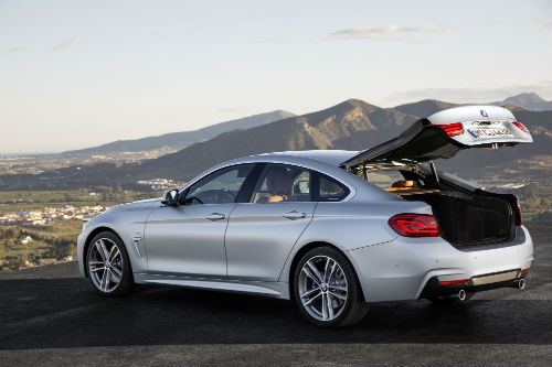 2017 BMW 4 Series with trunk open
