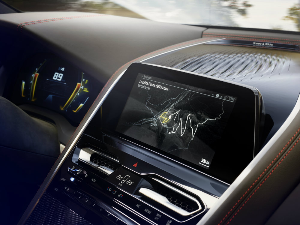 infotainment close-up of the BMW Concept 8 Series