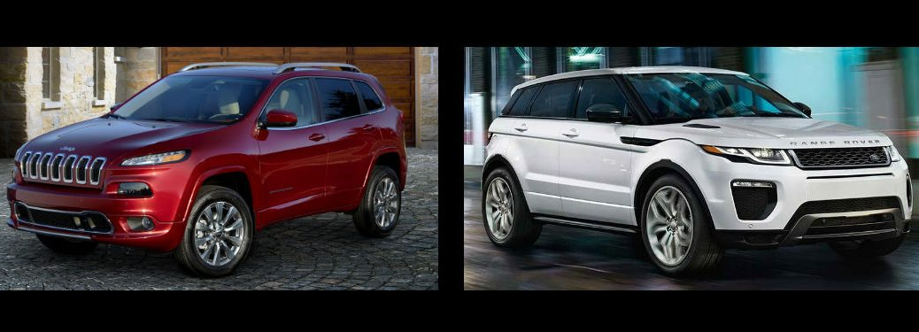 2017 Jeep Cherokee vs 2017 Land Rover Range Rover Evoque
