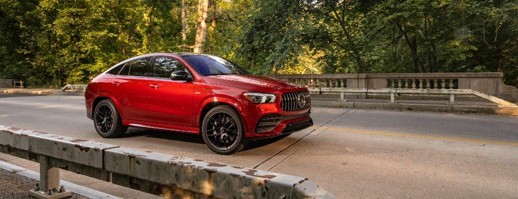 A right profile photo of the a 2021 Mercedes-AMG® GLE Coupe.