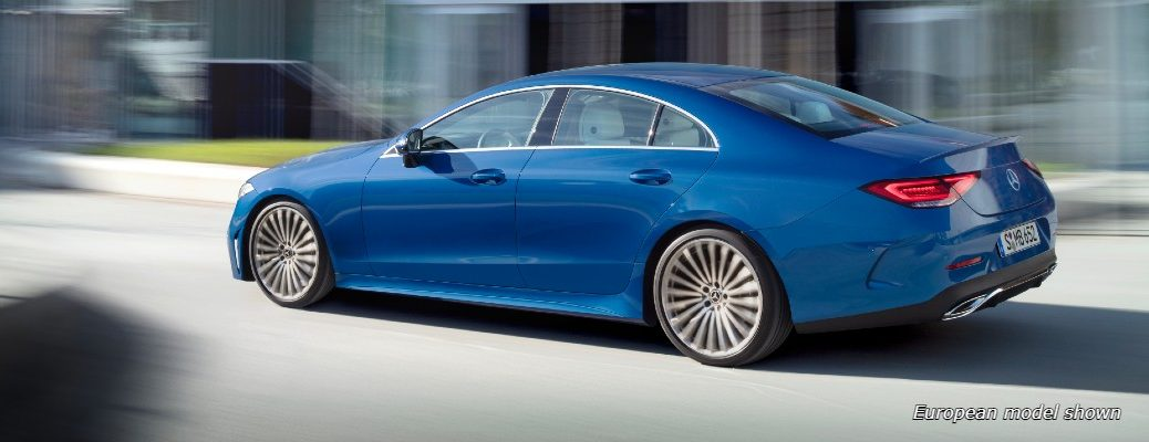 A left profile view of the 2022 Mercedes-Benz CLS 450 4MATIC® Coupe.