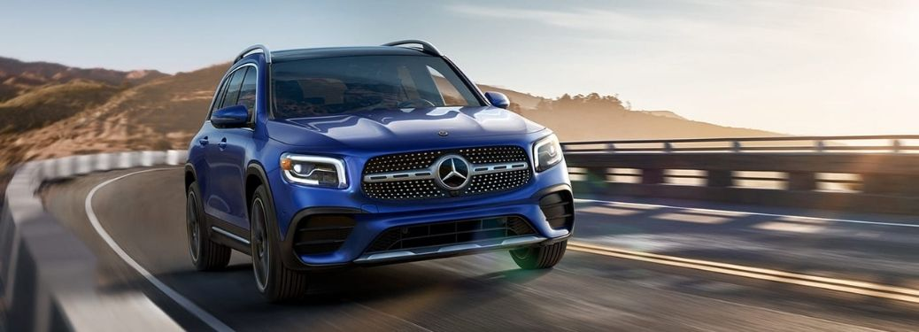 2021 Mercedes-Benz GLB Class Front View of Driving on a Highway