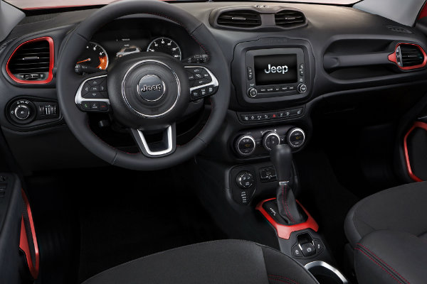 Red Interior Accents Jeep Renegade