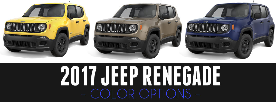 Jeep Renegade Colors >> 2017 Jeep Renegade Color Options