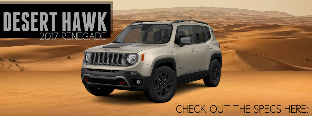 Jeep Renegade Desert Hawk >> 2017 Jeep Renegade Desert Hawk Limited Edition Racine Wi