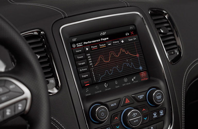 touchscreen display in 2018 Dodge Durango