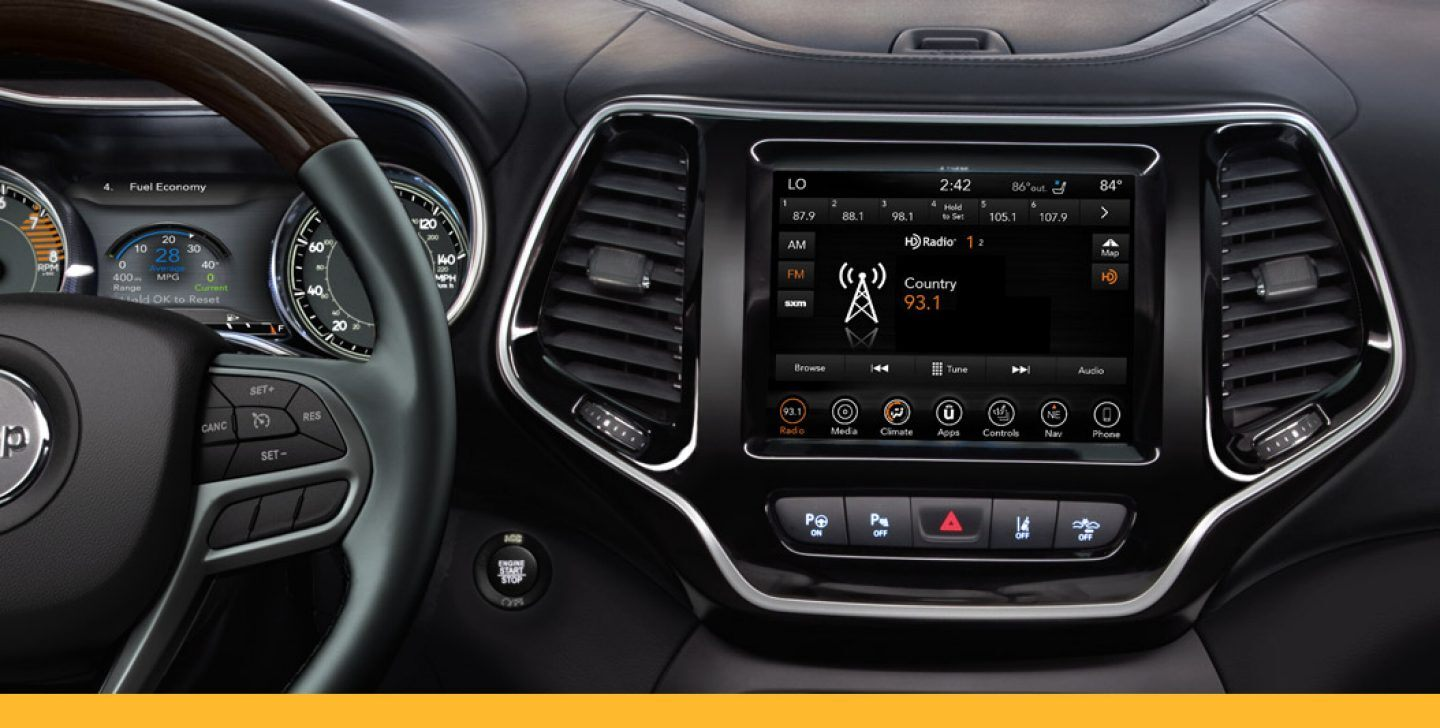 HD Radio interface of Uconnect infotainment system