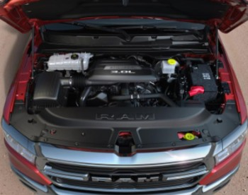 Overhead view of 2020 RAM 1500 EcoDiesel engine