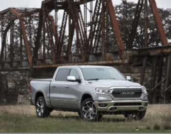 Front view of silver 2020 RAM 1500 EcoDiesel