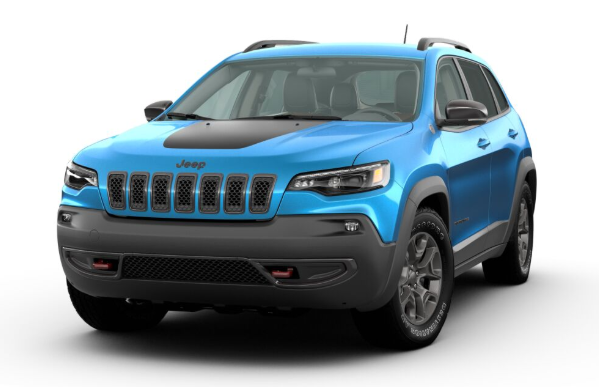 2020 Jeep Cherokee in Hydro Blue Pearl
