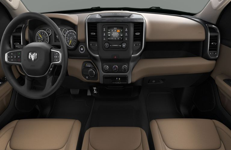 2020 RAM 1500 Black and Light Mountain Brown Interior Color Option