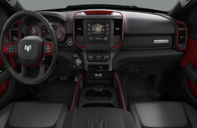 2020 RAM 1500 Black and Red Interior Color Option