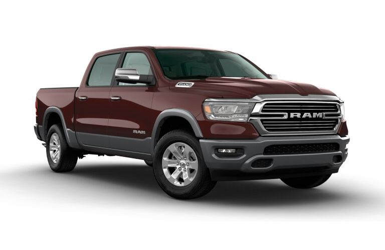 2020 RAM 1500 Delmonico Red Pearl and Billet Silver Metallic Exterior Color Option