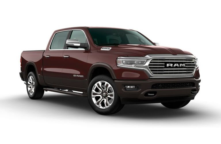 2020 RAM 1500 Delmonico Red Pearl and Walnut Brown Metallic Exterior Color Option