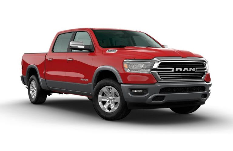 2020 RAM 1500 Flame Red and Billet Silver Metallic Exterior Color Option