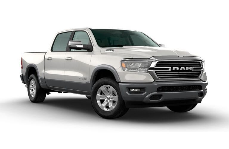 2020 RAM 1500 Ivory White Tri-Coat Pearl and Billet Silver Metallic Exterior Color Option