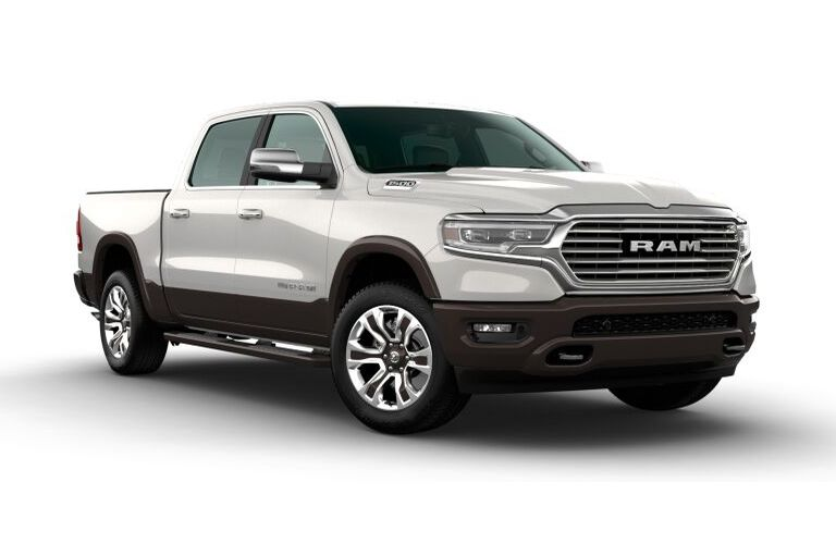2020 RAM 1500 Ivory White Tri-Coat Pearl and Walnut Brown Metallic Exterior Color Option