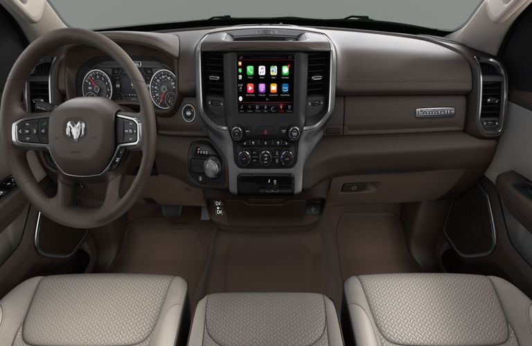 2020 RAM 1500 Mountain Brown and Light Frost Beige Interior Color Option