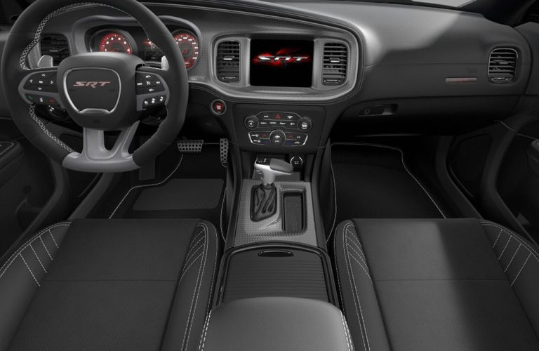 2020 Dodge Charger Black Hellcat Laguna Leather and Alcantara Interior Color Option