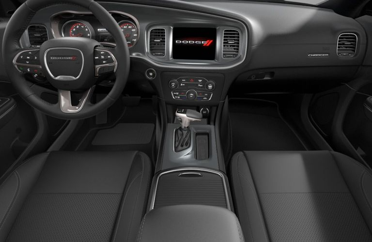 2020 Dodge Charger Black Houndstooth Cloth Interior Color Option