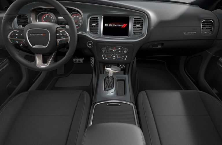 2020 Dodge Charger Black Nappa Leather and Alcantara Interior Color Option