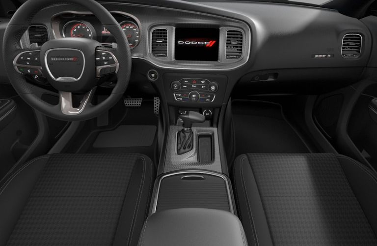 2020 Dodge Charger Black Scat Pack Cloth Interior Color Option