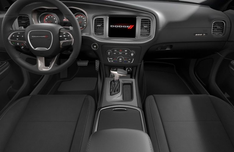 2020 Dodge Charger Black Scat Pack Nappa Leather and Alcantara Interior Color Option