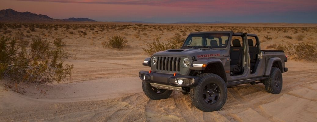 Exterior view of a 2020 Jeep Gladiator Mojave