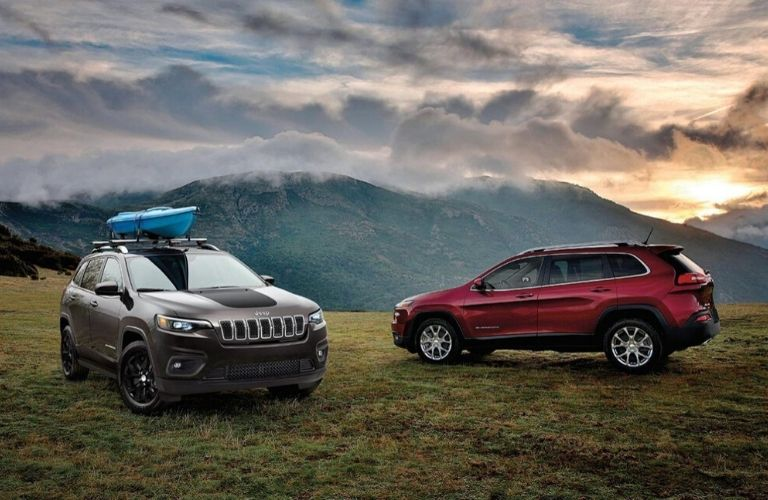 Exterior view of two 2020 Jeep Cherokee models