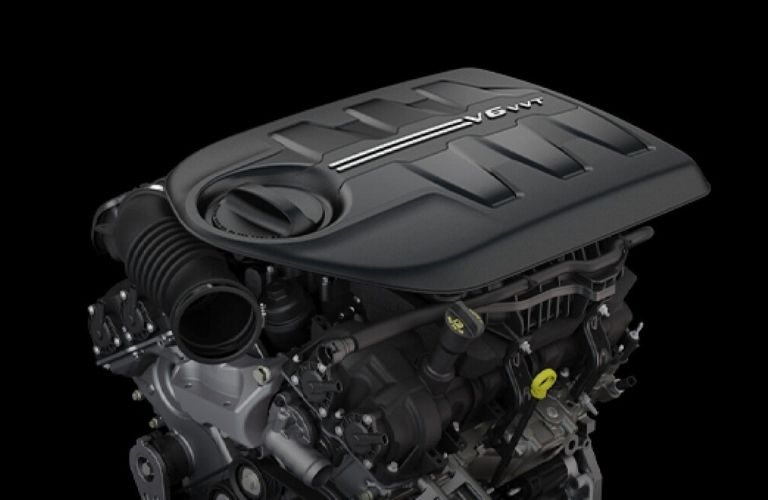 Image of the 2020 Jeep Cherokee Pentastar V6 engine