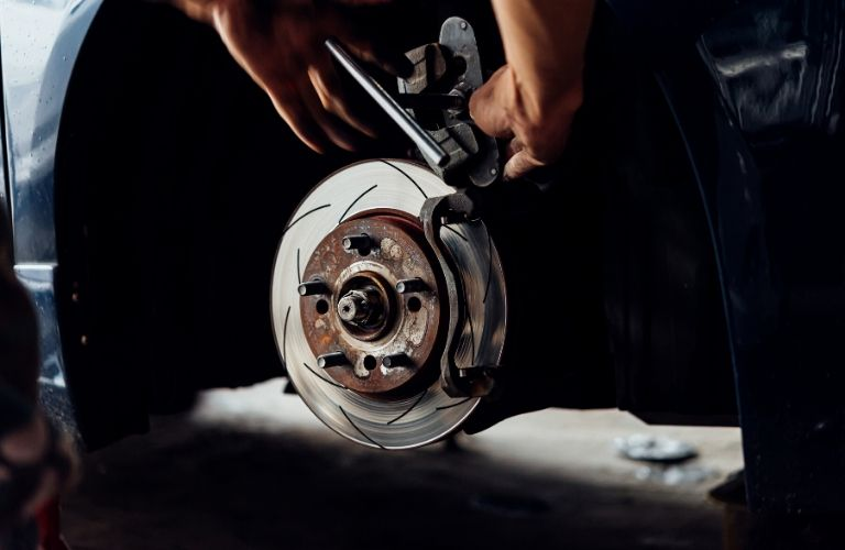 Image of the brakes on a vehicle