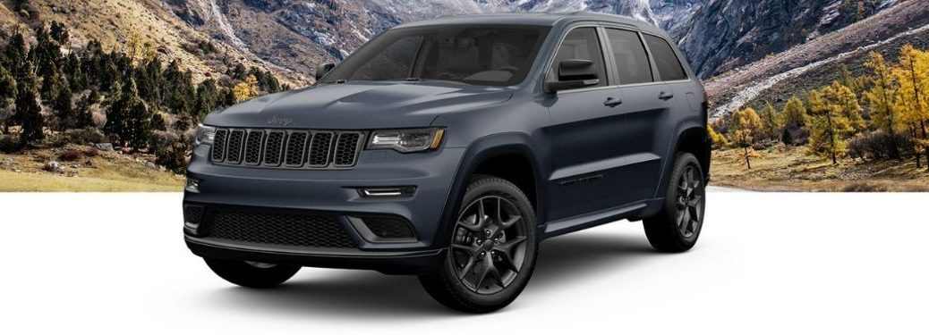 2019 Jeep Grand Cherokee Limited X on landscape background