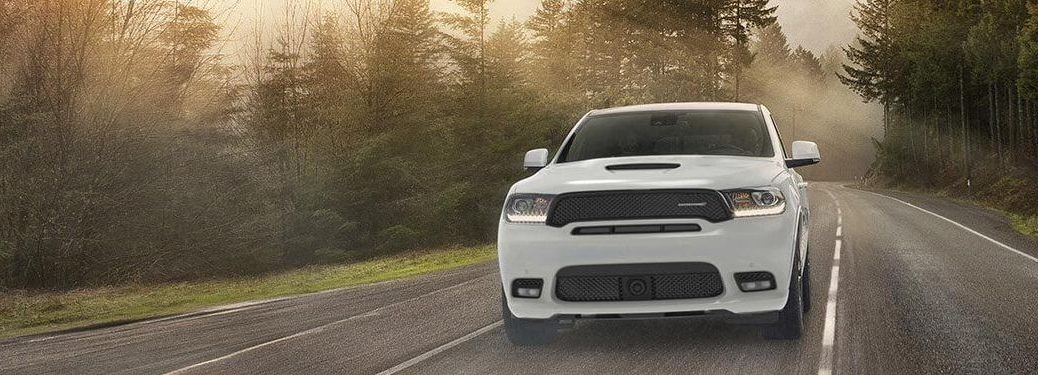 2020 Dodge Durango driving down a rural road