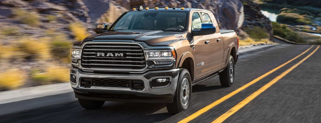 2020 Ram 2500 brown exterior front driver side driving on highway