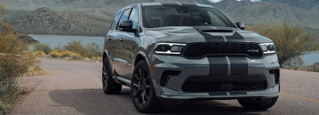 2021 Durango SRT Hellcat parked by lake